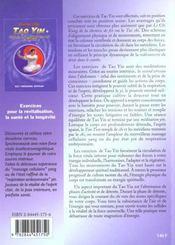 Tao Yin - 4ème de couverture - Format classique