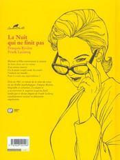 Agatha Christie t.6 ; la nuit qui n'en finit pas - 4ème de couverture - Format classique