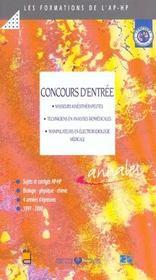 Concours D'Entree Aux Formations Masseurs Kinesitherapeutes - Techniciens De Laboratoires - Manipula - Intérieur - Format classique