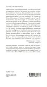 Anthologie personnelle - 4ème de couverture - Format classique