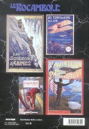 Revue Rocambole N.32 ; Cousins De Jules Verne ; La Ville Aérienne - 4ème de couverture - Format classique