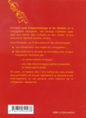 La Conjugaison Espagnole - 4ème de couverture - Format classique