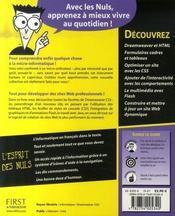 Dreamweaver CS3 pour les nuls - 4ème de couverture - Format classique