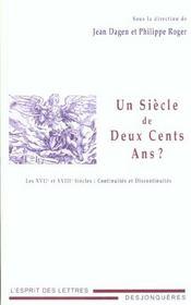 Siecle De Deux Cents Ans ? (Un) - Intérieur - Format classique