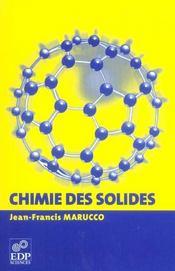 Chimie des solides - Intérieur - Format classique