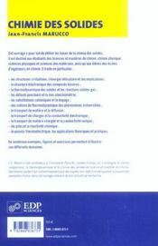 Chimie des solides - 4ème de couverture - Format classique