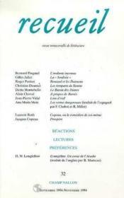Recueil N.32 - Couverture - Format classique