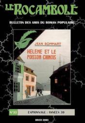Revue Rocambole N.33 ; Espionnage Années 30 - Couverture - Format classique