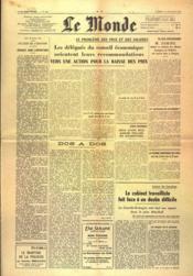Monde (Le) N°955 du 21/02/1948 - Couverture - Format classique