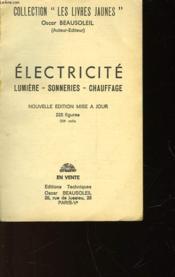 Electricite - Lumiere - Sonneries - Chauffage - N°1 - Couverture - Format classique