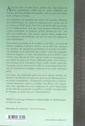 Textes fondateurs du calcul infinitésimal - 4ème de couverture - Format classique