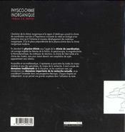Physico-chimie inorganique - 4ème de couverture - Format classique