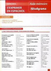 S'exprimer en espagnol - Intérieur - Format classique