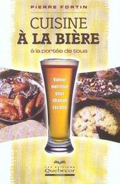 Cuisine à la bière à la portée de tous - Intérieur - Format classique
