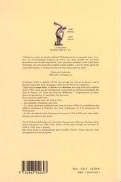 La galaxie olympique iii ; d'athene 1896 a syney 2000 - 4ème de couverture - Format classique