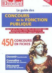 Le guide des concours de la fonction publique (édition 2005) - Intérieur - Format classique