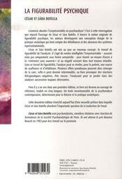 La figurabilité psychique - 4ème de couverture - Format classique
