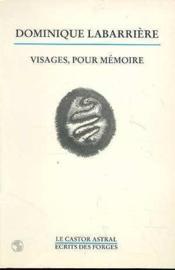 Visages Pour Memoire - Couverture - Format classique