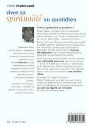 Vivre Sa Spiritualite Au Quotidien - 4ème de couverture - Format classique