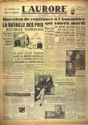 Aurore (L') N°1070 du 21/02/1948 - Couverture - Format classique
