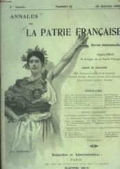 Annales De La Patrie Francaise - N°18 - Couverture - Format classique