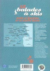 52 balades à skis dans le Queyras et la haute Ubaye - 4ème de couverture - Format classique