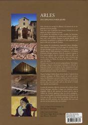 Arles ; Histoire, Territoires Et Cultures - 4ème de couverture - Format classique