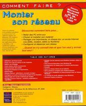 Monter Son Reseau - 4ème de couverture - Format classique