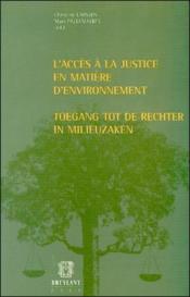 L'acces a la justice en matiere d'environnement - Couverture - Format classique