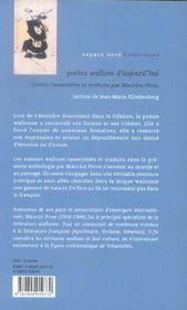 Poètes wallons d'aujourd'hui - 4ème de couverture - Format classique