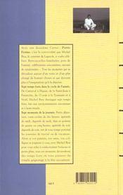 Carnets de michel bras t.2 ; les petits festins - 4ème de couverture - Format classique