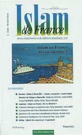 Islam De France T.8 ; Islam En France Foi Ou Identite - Intérieur - Format classique