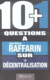 10 + 1 questions sur la décentralisation - Couverture - Format classique