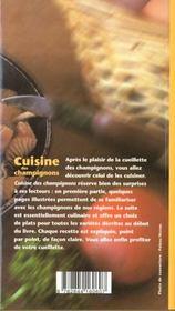 Cuisine Des Champignons - 4ème de couverture - Format classique