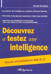 Decouvrez et testez vos formes d'intelligence - Intérieur - Format classique