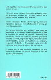 Par Le Pouvoir De Saint Expedit - 4ème de couverture - Format classique