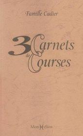 3 Carnets De Courses - Intérieur - Format classique