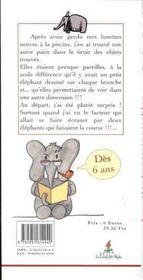 Les elephants invisibles - 4ème de couverture - Format classique