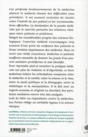 Les nouveaux paradoxes de la médecine ; la santé, entre science, raison, profit et précaution - 4ème de couverture - Format classique