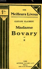 Madame Bovary - Tome 2 - Couverture - Format classique