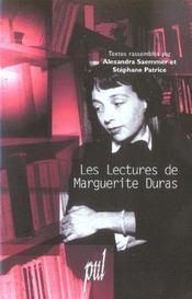 Les Lectures De Marguerite Duras - Intérieur - Format classique