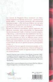 Les Lectures De Marguerite Duras - 4ème de couverture - Format classique