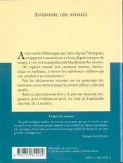 Anatomie Des Atomes No2 - 4ème de couverture - Format classique