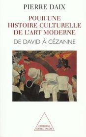 Pour Une Histoire Culturelle De L'Art Moderne - Intérieur - Format classique