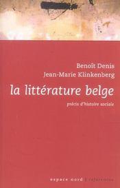La littérature belge - Intérieur - Format classique