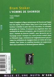 L'homme de shorrox - 4ème de couverture - Format classique
