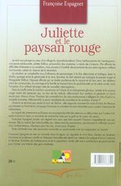 Juliette Et Le Paysan Rouge - 4ème de couverture - Format classique