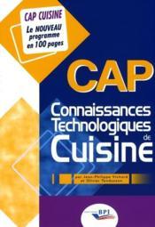 Connaissances technologiques de cuisine ; CAP - Couverture - Format classique
