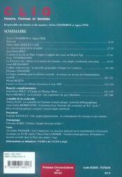 Utopies Sexuelles. Revue Clio N22 - 4ème de couverture - Format classique