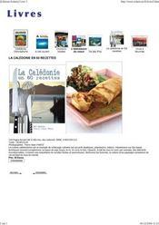 La Calédonie en 60 recettes - Intérieur - Format classique